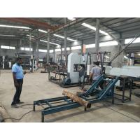 China CNC Twin Vertical Band Saw sawmill equipment for cutting wood log into square timber on sale