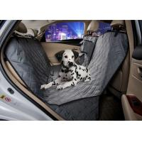 China Grey Animal Car Seat Covers , Non Slip Rear Car Seat Covers For Dogs on sale