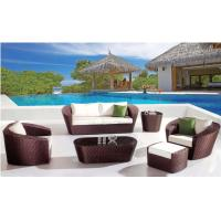 China YLX-RN-024 Dark Coffee PE Rattan Sofa and Table for outdoor used on sale