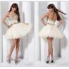 China Cute Tulle Sleeveless Short Junior Homecoming Dresses Beaded Crystal wholesale