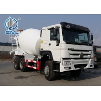 China White Concrete Mixing Equipment  Sinotruk 6M3 Mixer Tank Truck 6x4 White Color With Italy Pto wholesale
