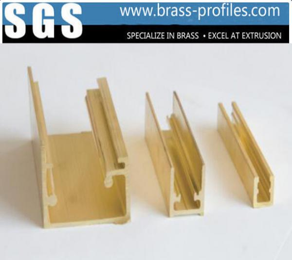 Quality Copper Alloy Extrusion Window Frame Special Brass Window Sections for sale