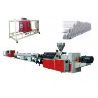 China Siemens Motor Conical Twin Screw Extruder For PVC Water Supply System Pipe wholesale