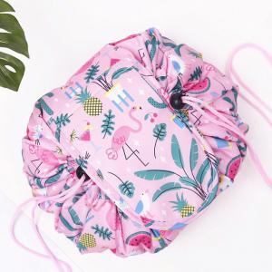 China L48*H48CM Polyester Drawstring Makeup Bag For Travel wholesale