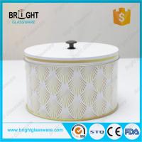 China Decorative pattern empty fancy tea cans candle metal tin boxes for gift wholesale
