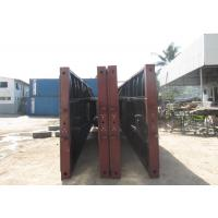 China Carbon Steel Flat Deck Semi Trailer CKD And SKD Type , Heavy Duty Flatbed Trailer wholesale
