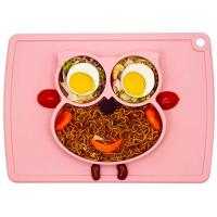 China Silicone Placemat - Toddler Plates BPA-Free FDA Approved Feeding Plate Mat 11x8x1 inch for Babies Kids wholesale