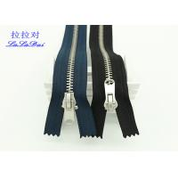 China Normal Type 8# Antique Silver Closed End Zip Polyester Tape For Washed Pants And Jeans wholesale