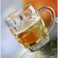 China Machine-made Glass Beer Mug with Logo Print for Promotional Item wholesale