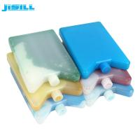 China Plastic Ice Packs ice brick and ice bag with ice gel inside HDPE material colorized  ice pack for can and kids lunch box wholesale