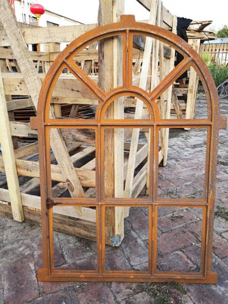 Quality Arched Mirror Cast Iron Windows For Garden Standard Size Antique Metal Windows for sale