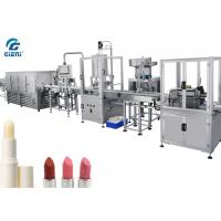 China Full Automatic Lip Balm Filling Machine With Chilling Tunnel , 14kw Power wholesale