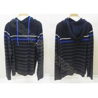 China Mens Wool Sweaters With Hood Stripes Fine Knit Pullover Autumn wholesale