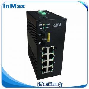 China 10 ports managed switch 10 /100/1000Mbps transmission rate 7+3G Gigabit Fiber Optic Ethernet switch wholesale