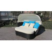 China Roofed Outdoor Rattan Daybed , Wicker Conservatory Furniture wholesale