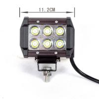 square 13.5 Inch 18W Automotive led work light for Excavator crane