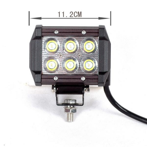 Quality square 13.5 Inch 18W Automotive led work light for Excavator crane for sale