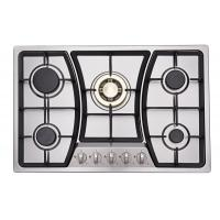Buy cheap Built In Auto Ignition Stainless Steel Gas Hob / Gas Cooker With 5 Burners from wholesalers