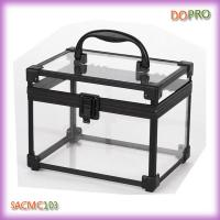 Cute Transparent Small Vanity Beauty Boxes with Lock (SACMC103)