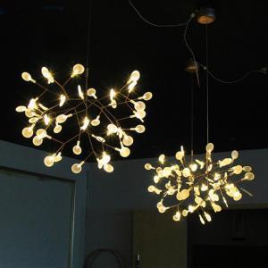 China Creative art beaded acrylic lighting chandelier modern european for household on sale