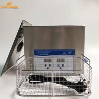 China Stainless Steel Heated Desktop Ultrasonic Cleaner 10Liter For Laboratory / Medical Ultrasonic Cleaning wholesale