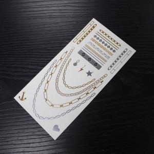China metallic body temporary tattoo sticker on sale