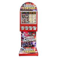 China Coin Mechanism  Tattoo Metal Vending Machine 4 Outlets Red Color 51*41*142cm wholesale