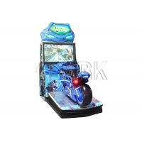 China Electronic Coin Operated Motorcycle Car Racing Game Machine 250W wholesale
