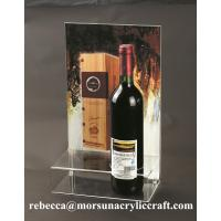 China Plexiglass Products Clear Acrylic Wine Holder With Poster Holder wholesale