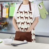 Brown Deer Printed Bib Style Home Kitchen Apron 70x80cm or Customized