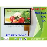 China 4.3 Inch I2C Multi Touch Industrial Touch Panel , Projected Capacitive Touch Screen wholesale