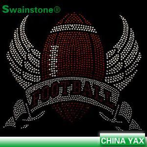 China jx0825 iron on transfer texans rhinestone;texans iron on transfer rhinestone;texans rhinestone iron on transfer on sale