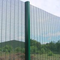 China 358 Safety Welded Mesh Fence , Welded Metal Fence Panels Powder Coated wholesale