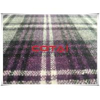 China Light Weight Thin Durable Flannel  Tartan Wool Fabric Anti Pilling wholesale