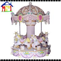 China Kiddie horse ride merry-go-round carrousel 6 seats girls game for amusement park wholesale