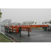China 40ft Skeletal Three Axles Steel Shipping Container Trailer Chassis ISO9001 CCC on sale