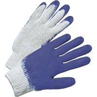 China 10guage white cotton crinkles grip gloves with coated latex wholesale