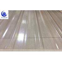 China Transparent Corrugated Clear Polycarbonate Roofing Sheets Wave Or Trapezoidal Type wholesale