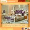 China (BK0109-0002)Luxury Elegent Princess Bed,Wooden Hand Carved Fancy Classical Bedroom Furniture Set, Violet Wedding Bed wholesale