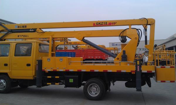 Quality Operating Radius 7.6m Boom Lift Truck XZJ5067JGK Horizontal Reaches Up To 18 Meters for sale