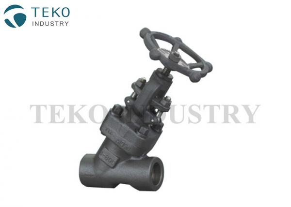 Quality Full Bore Y Pattern Forged Steel Globe Valve API602 For Petroleum Industry for sale