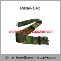 China Wholesale Cheap China Army Polyester Camo Military Metal Buckle Police Belts wholesale