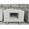 China Pure White Quartz Stone Countertop 2.6g/cu.cm Density 52.7MPa Flexural Strength wholesale