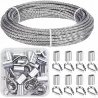 China Cable Railing Kits 316 Stainless Steel Wire Rope & Fittings Includes 1/8 Inch X 33 Feet wholesale