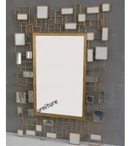 China Unique Design Mirror Art Wall Decor, Rectangle Modern Mirrored Wall Art wholesale