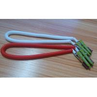 China 430mm length high quality China facotry price white red coiled lanyard leash dental clips on sale