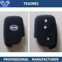 China BYD / Volkswagen Black Remote Silicone Car Key Cover Case Eco - Friendly wholesale