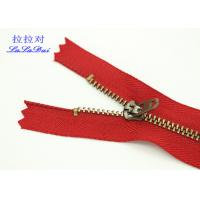 China Custom 5 Inch Vintage Jeans Metal Zipper 4YG Slider Double Top Stop For Jeans And Pocket wholesale