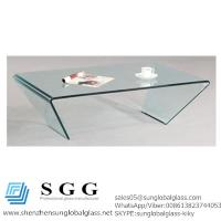 China Grade A high quality 46x28 Rectangle Bent Glass Cocktail Table wholesale