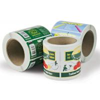 China Printed Self Adhesive Paper Custom Sticker Labels in Roll Recycled wholesale